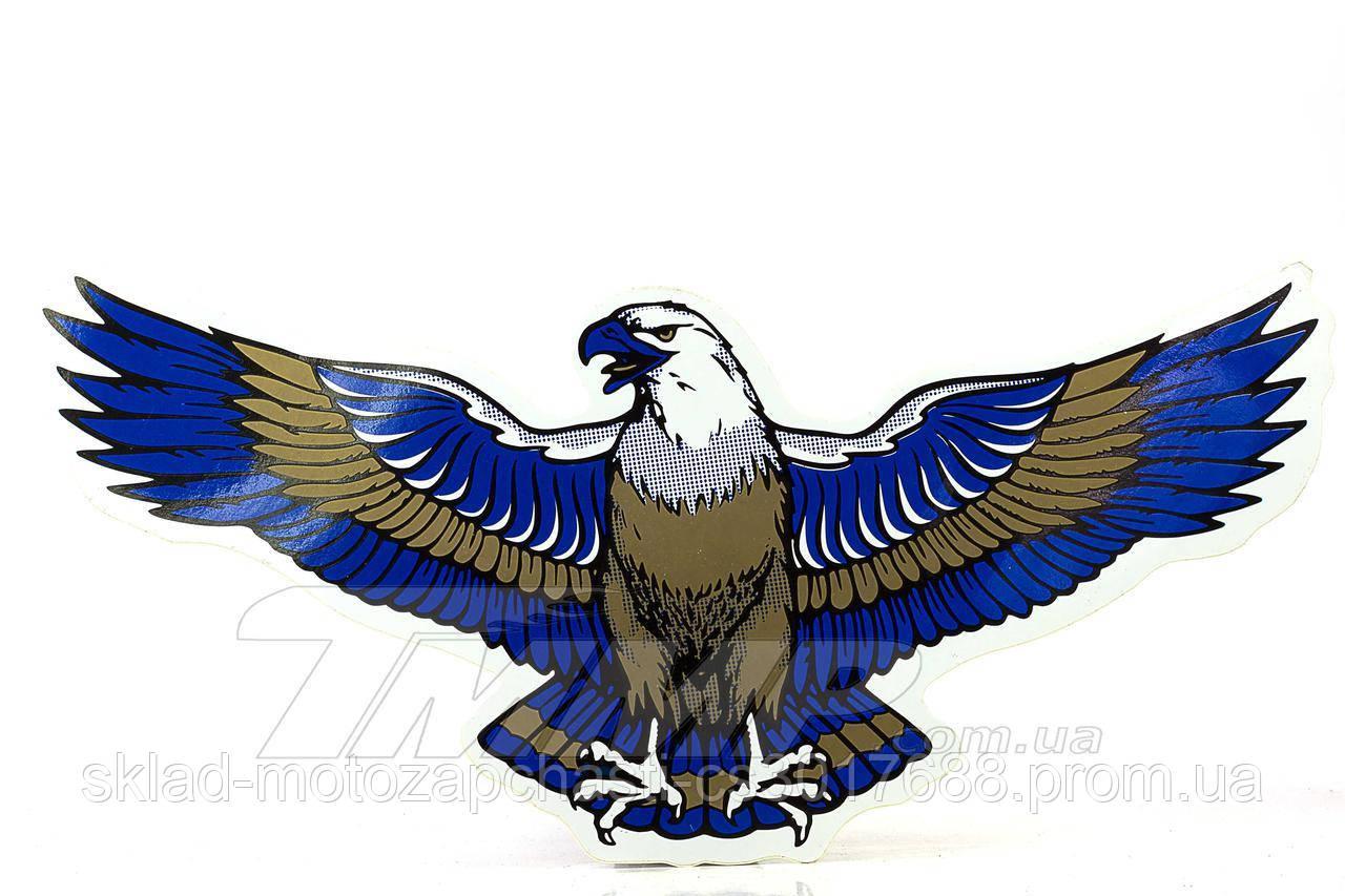 "Наклейка ""ОРЕЛ - КРИЛА"" (синій) 30×13 см Артикул: I-1022 Опис: Наклейка ""ОРЕЛ - КРИЛА"" (синій) 30×13 з"