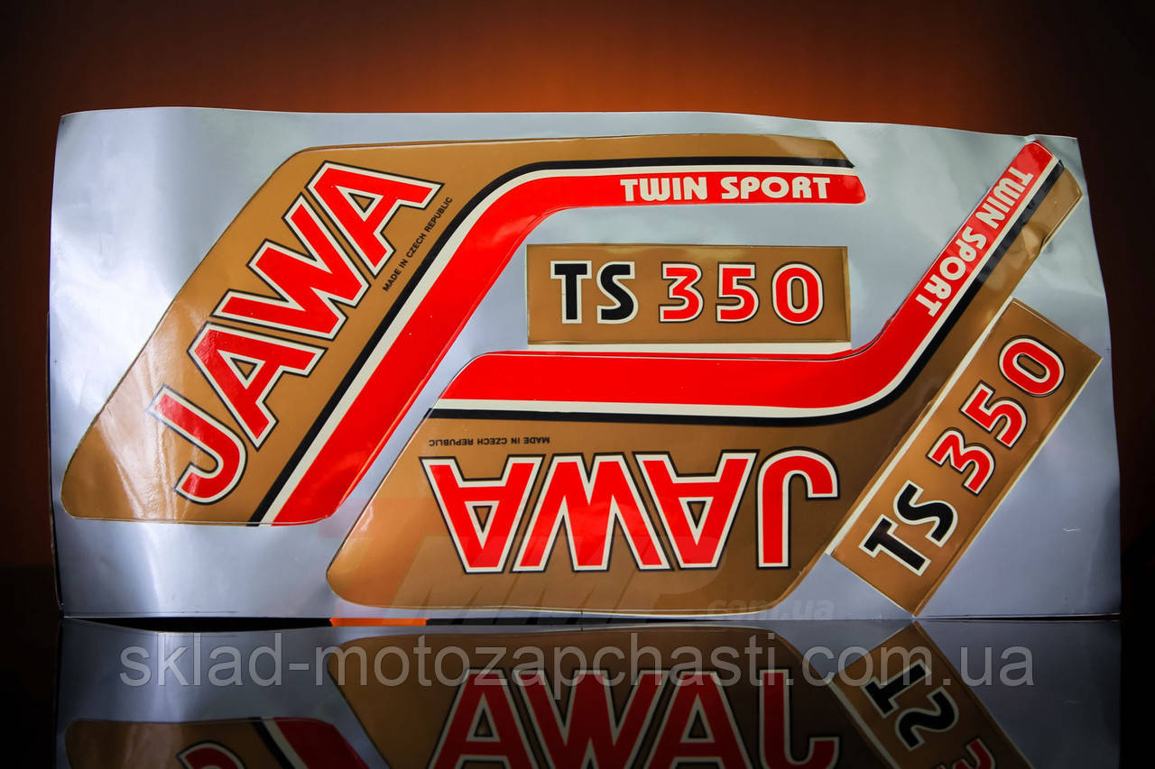 "Наклейка ""JAWA"" (4шт, коричневый) Артикул: I-569  Описание:  Наклейка ""JAWA"" (4шт, коричневый)"