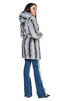 Шуба женская из искусственного меха 2-082 серая, фото 3