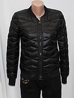 Куртка осенняя женская, с утеплителем, на молнии, черная, фото 1