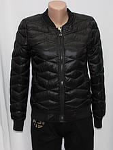 Куртка осенняя женская, с утеплителем, на молнии, черная