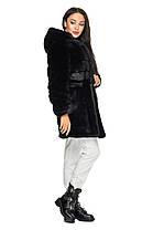 Шуба женская  из эко меха 2-084 черная, фото 2