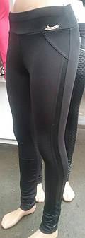 Лосины женские оптом, байка, эластик + кожзам, XL-4XL, №7046