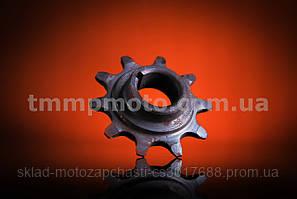 Звёздочка моторная 10 зубов для веломотора калёная