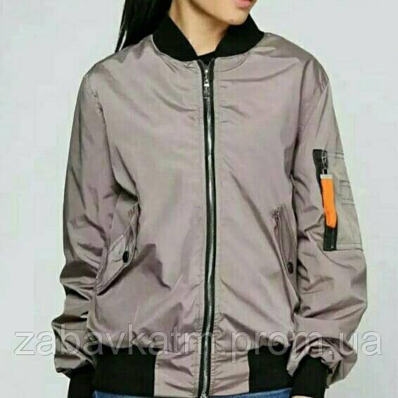 1e8b900f Куртка ветровка женская бомбер, мокко, р 46-52 - Nega одежда от  производителя