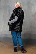 Жилет из эко меха 024 черный, фото 2