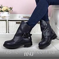 Стильные женские ботиночки со съемным декором, фото 1