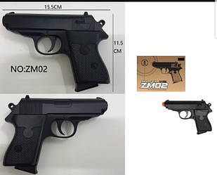 Дитячий пістолет ZM 02 метал+пластик.кор.16*12 см