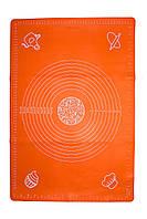 Силиконовый коврик для раскатки теста и выпечки 45 см 64 см