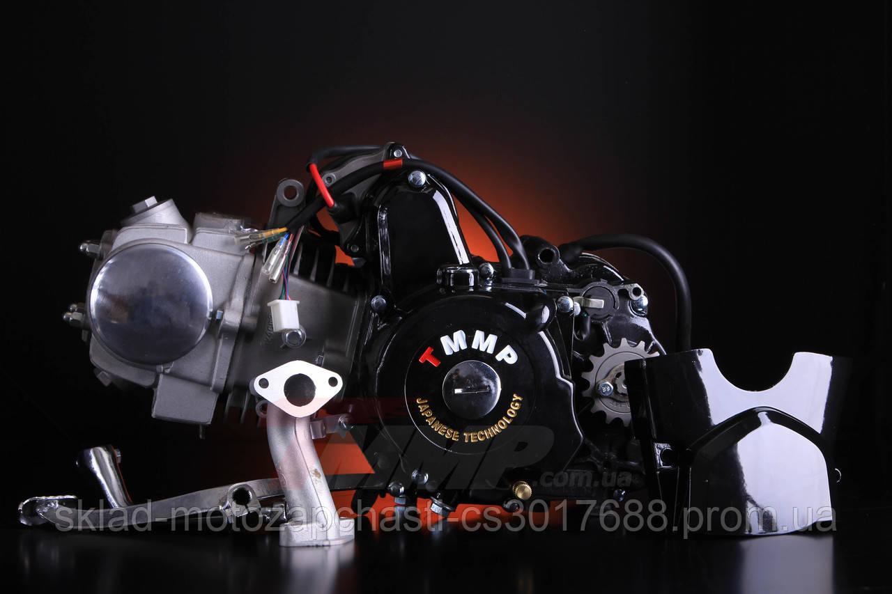 Двигатель Дельта / Альфа 125 куб см  54мм алюминиевый цилиндр механика  чёрный
