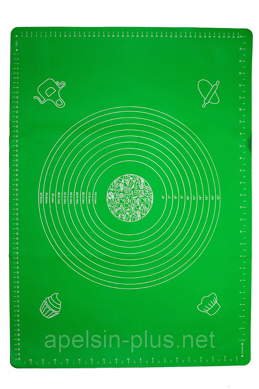 Силіконовий килимок для розкочування тіста і випічки 70 см 50 см