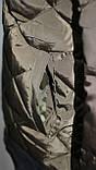 Куртка осенняя женская, с утеплителем, на молнии, хаки, с пчелой, фото 6