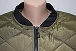 Куртка осенняя женская, с утеплителем, на молнии, хаки, с пчелой, фото 9