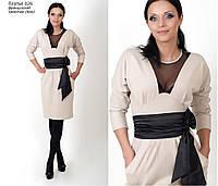 Платье женское c выточками на груди и талии (без пояса)