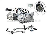Двигатель в сборе Актив / Дельта-110см3 52,4мм  АЛЬФА ЛЮКС полуавтомат