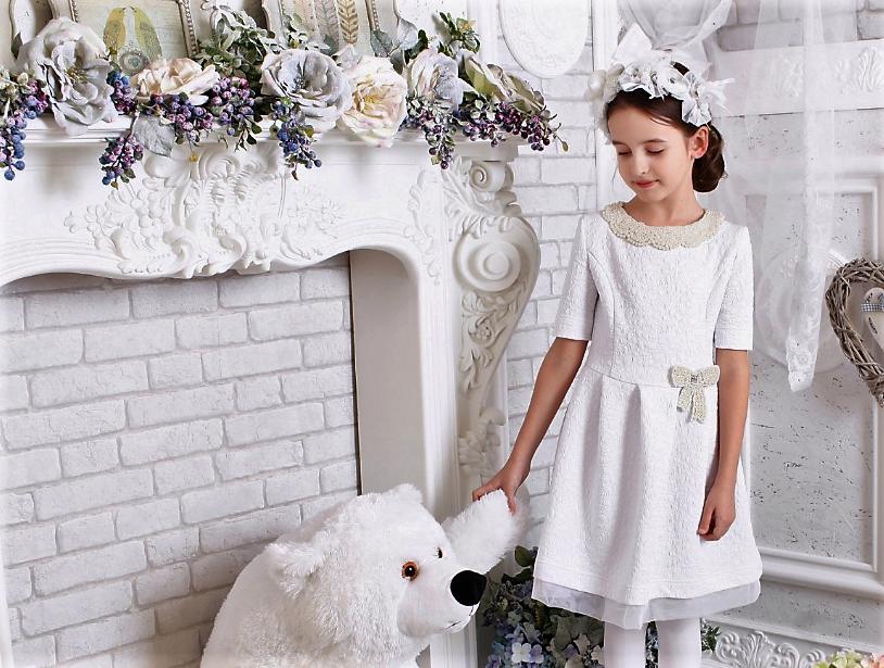 Белое нарядное платье р-ры 134,146,152