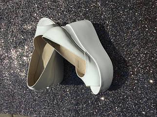 Белые кожаные туфли на платформе с открытым носком 36-40 р