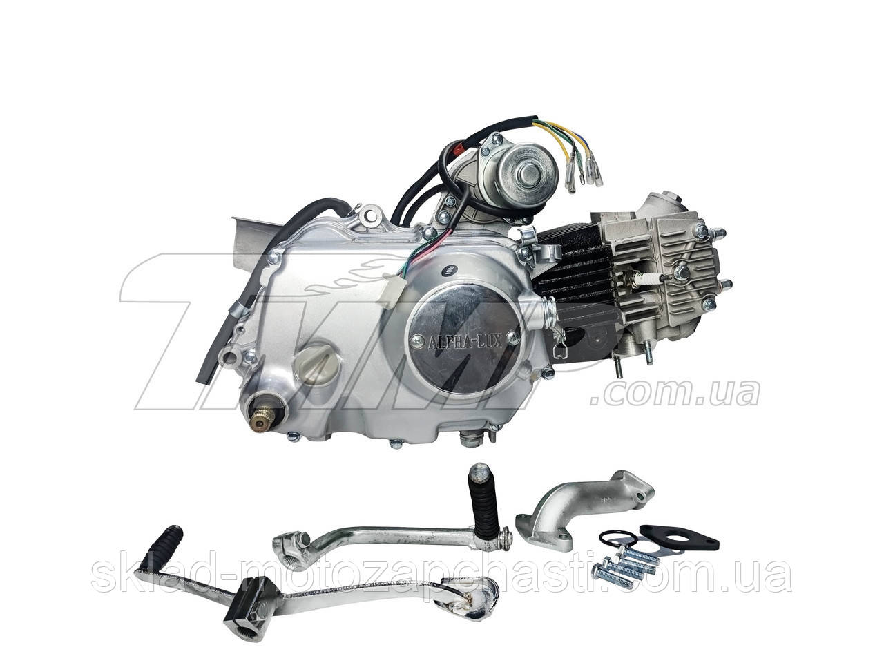 Двигун Альфа / Дельта-110см3 52,4 мм АЛЬФА ЛЮКС механіка