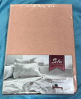 Махровая простынь на резинке 160*200 евро Турция Sefa цвет Персиковый