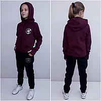 Теплый спортивный костюм для девочки Converse вишня
