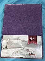Махровая простынь на резинке двуспальная 160*200 Турция Sefa цвет Фиолетовый