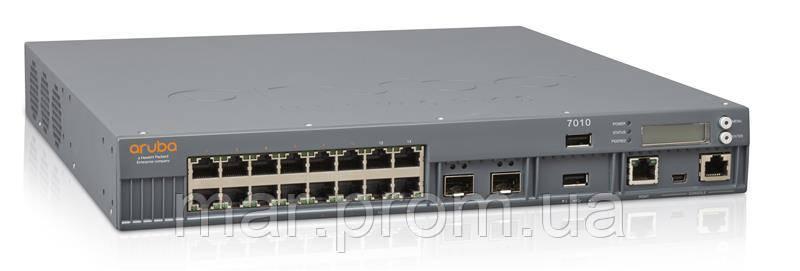 Контролер HPE Aruba 7010 (RW) 16p 150W PoE+ 10/100/1000BASE-T 1G BASE-X SFP 32 AP and 2K Cl.