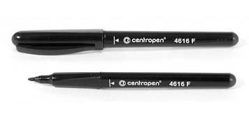 Маркер CENTROPEN перманентный 4616 CD 0.6мм черный 10шт