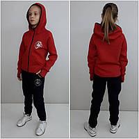 Теплый спортивный костюм для девочки Converse с перчаткой красный