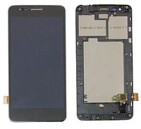 Дисплей (экран) для LG X240 K8 Dual Sim (2017)/US215 + тачскрин, черный, с передней панелью, оригинал