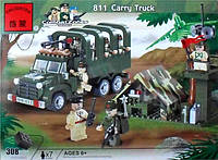 Конструктор BRICK 811 грузовик, 308 дет Полевая база