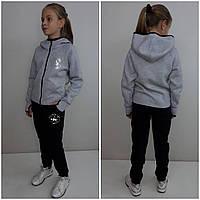 Теплый спортивный костюм для девочки Converse с перчаткой меланж