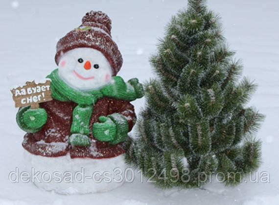 Статуэтка Снеговик большой с табличкой в руке