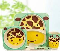 Детский набор посуды органический из бамбука Bamboo Fibre Kids Set