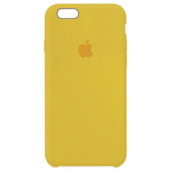 Оригинальный силиконовый чехол для Apple iPhone 6 / 6s (4.7 Дюйма) Silicone case (Желтый)
