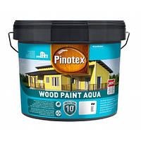 PINOTEX WOOD PAINT AQUA Краска на водной основе для деревянных фасадов BW, белый 9 л