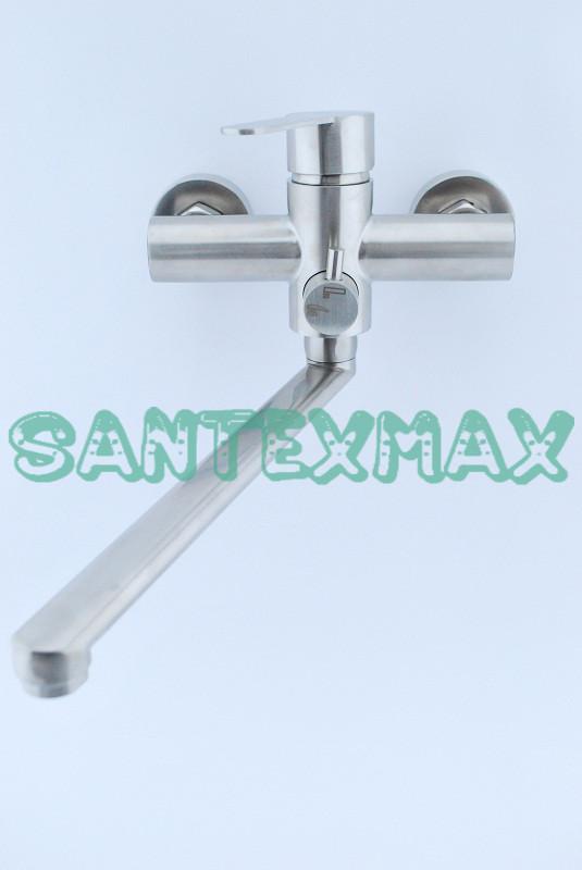 Смеситель для ванны и душа Zerix Lr 72203 из нержавеющей стали
