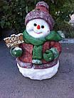 Статуэтка Снеговик большой с табличкой в руке, фото 2