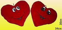 Подушка сердце красное  34х30 см.