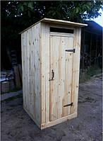 Туалет деревянный из обрезной доски
