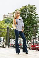 Женский брючный костюм / тиар, костюмный креп / Украина 40-2179, фото 1