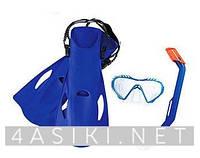 Набор для плавания BW (25025) маска, трубка, ласты, 2 вида