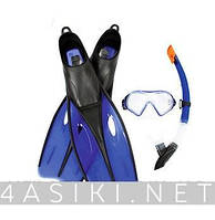 Набор для плавания BW (25021 маска, трубка, ласты, 2 вида
