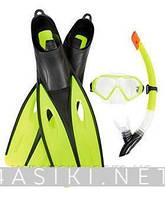 Набор для плавания Bestway (25023) маска, трубка,ласты, 2 цвета