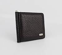 Купюрник-зажим для денег магнитный кожаный Desisan 208-1 черный, фото 1