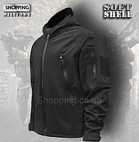 Куртка мужская Softshell Черная тактическая Tactical Jacket Camo-tec 74ef038258aec