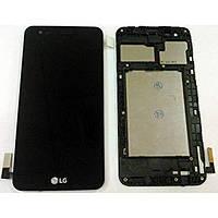 Дисплей (екран) для LG X230 K7 2017 + тачскрін, чорний, з передньою панеллю, оригінал
