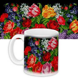 Кружка с принтом Украина Квіти (KR_TRV068)