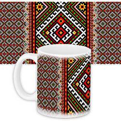 Кружка с принтом Украина Український орнамент (KR_UKR040)
