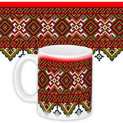 Кружка с принтом Украина Український орнамент (KR_UKR044)