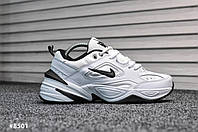 Мужские кроссовки Nike Tekno White Black (Реплика)